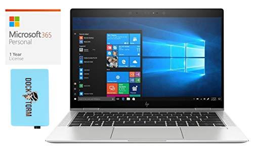 HP EliteBook x360 1030 G3 Home and Business Laptop-2-in-1 (Intel i7-8650U 4-Core, 16GB RAM, 2TB PCIe SSD, Intel UHD 620, 13.3' Touch Full HD (1920x1080), Win 10 Pro) with Hub, Microsoft 365