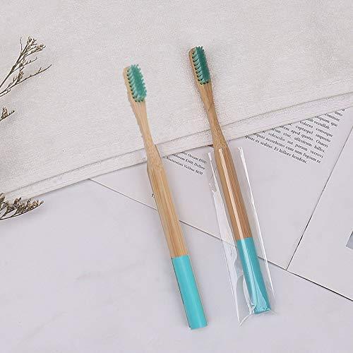 Farbe Borsten runder Griff Bambuszahnbürste Bambusgriff Bambuskohlebürste Holzzahnbürste...
