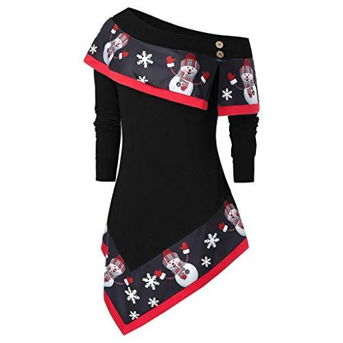 Femme Sweat Long Sweat Hors Épaule Sweat Long Costume Noël Épaule Dénudé Femme Blouse Chandail Pas Cher L - 5XL