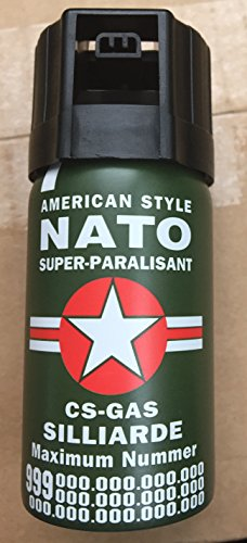 CS GAS NATO Tränengas 40ml Abwehrspray CS-GAS