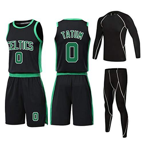 Zwarte mannelijke sport vierdelig pak, 0# Basketbal pak set, Fitness trainingspak, geschikt voor buiten, dagelijks, sport Retro XXXXX-Large Kleur