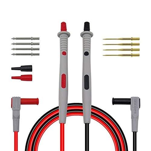 lifebea Detector de gas 4 multímetro digital de gas Sondas de prueba de cables reemplazables agujas kits de separación de cables puntas de alambre de flujo de agua interruptor sensor