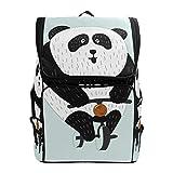 Mochila para el aire libre con diseño de oso panda divertido, casual, para...