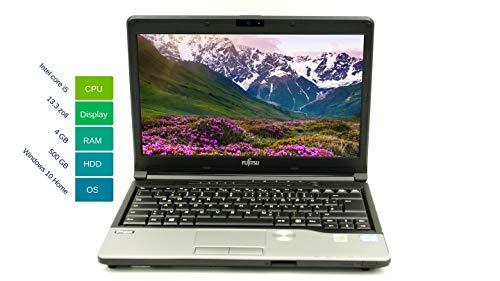 Fujitsu Lifebook S762 33,78 cm 13,3 Zoll   Leistungsstarker Laptop   Intel Core i5 2x 2.6GHz 4GB RAM 500 GB HDD Win 10 Home Tastatur DE Intel HD Graphics 3000   1,9 kg schwatz/silber (Generalüberholt)