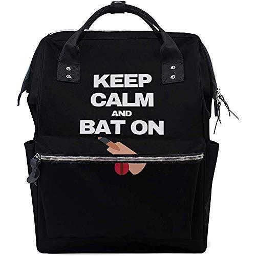 Mochila Para Pañales Con Estampado Cricket Keep Calm Print,Mochilas De Viaje Para Pañales 🔥