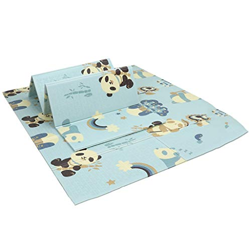 GaoYunQin Baby Play Mat, Folding Xpe Soft Foam Child Crawling Mat, Waterproof Double-sided Living Room Gym Floor Mat (Size : 200 * 180 * 1.5cm)