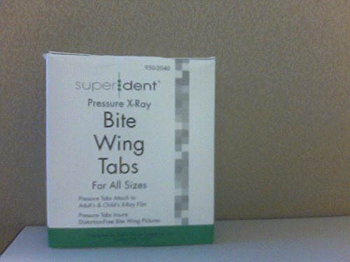 Dental Pressure Type X-ray Bite Wing Tabs All Sizes Box/500 Superdent - 950-2040