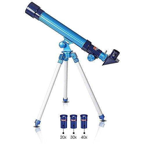 Telescope for Kids by ArtCreativity - Set Includes 3 Magnification Lenses, Diagonal Mirror, and Tripod Stand - Easy to Focus - Great Children's Educational Science - Microscope Toy for Boys and Girls