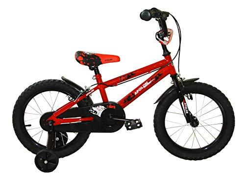 Ümit Bicicleta 16' APOLON, Juventud Unisex, Rojo, Mediano