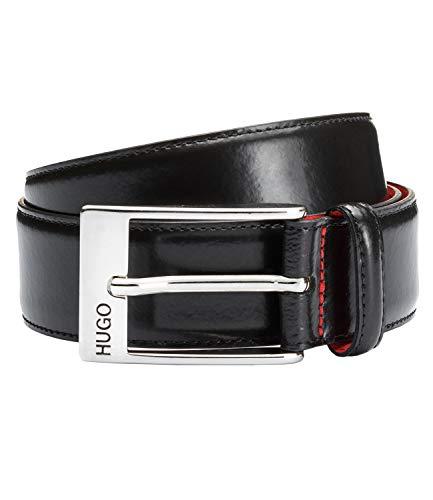 HUGO Herren BARNEY 10111884 01 Gürtel, Schwarz (Black 001), 95 cm (Herstellergröße: 95)