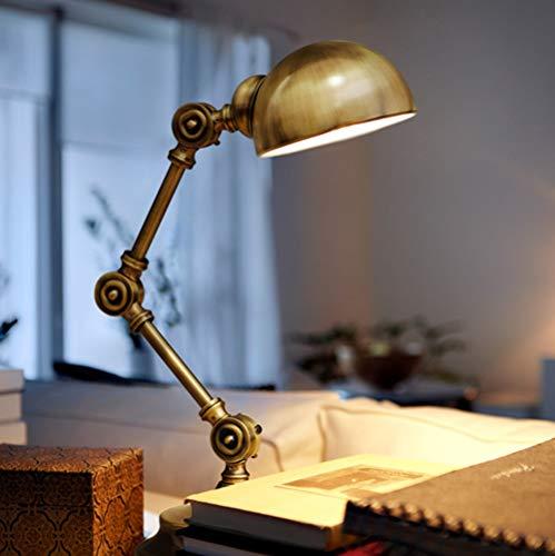 FAGavin Nordic Creative - Lámpara de escritorio pequeña para estudiantes que aprenden a leer para dormitorio infantil (color: latón)