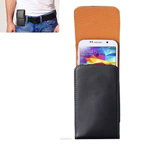 Wckxy Caja del teléfono del Caballo Loco Textura Vertical del Cuero del tirón Cubierta del teléfono Bolsa de Cintura/Volver con tablilla y for iPhone X & Galaxy S5 / S7 y G900 / G935