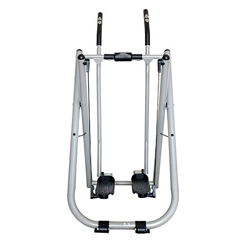 Elliptical Crosstrainer Fitness Air Walker Stepper Stepper W / Handle Bar und LCD-Monitor Glider Elliptical Machine for Bewegung und Fitness für den Heimgebrauch ( Color : Silver , Size : Free size )
