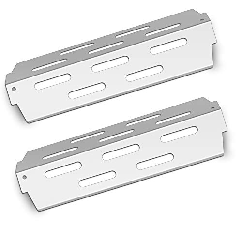 YOUFIRE Heat Deflectors Stainless Steel BBQ Heat Plate Shield Grill Replacement Parts for Weber 66686 Genesis II E-410, S-410, LX E-440, LX S-440 Gas Models, 2 Pack Flavorizer Bar