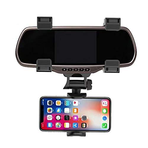 Soporte de espejo universal para teléfono de coche – Soporte de rotación de 360 grados para teléfono (X/8/8Plus/7) Android, Honor y Plus GPS de teléfono inteligente