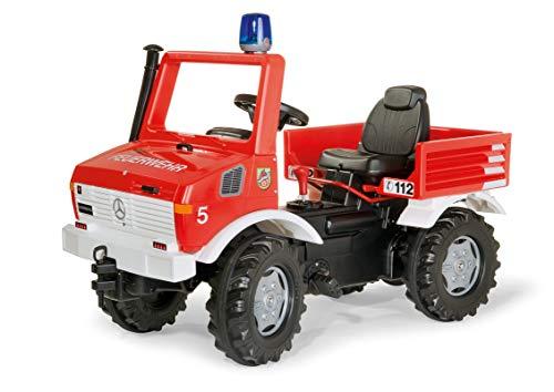 Rolly Toys rollyUnimog Fire Unimog (Feuerwehrauto für Kinder 3-8 Jahre, Zweigangschaltung, Flüsterlaufreifen) 036639