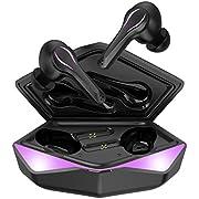 KINGSTAR Gaming Kabellose Ohrhörer Bluetooth 5.0 In-Ear Wireless Spiel Kopfhörer mit Mikrofon 30H Spielzeit Game/Musik Modus automatisch verbindung Berührungen Typ-C Aufladung Drahtlose Headset
