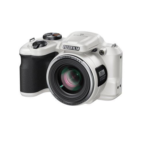 """Fujifilm S8650 Bridge - Fotocamera digitale, 16 MP, zoom ottico Fujinon 36x, schermo LCD da 3"""", colore: Rosso 1 bianco"""
