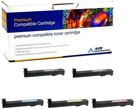AIM Compatible Replacement for HP Color Laserjet Enterprise M880 Toner Cartridge Combo Pack (2-BK/1-C/M/Y) (NO. 827A) (CF3002B1CMY) - Generic