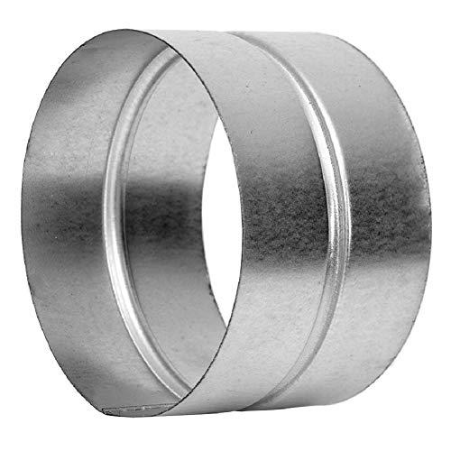 Manguito de 150 mm de diámetro – Conector – Tubo de ventilación redondo de chapa de acero galvanizado (DN 150)