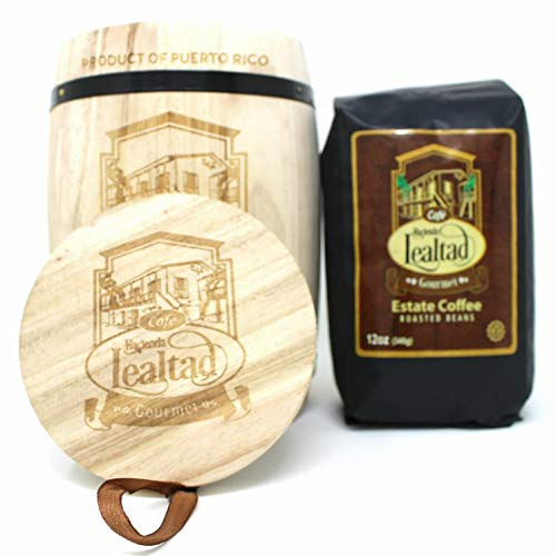 Cafe Lealtad - Puerto Rican Gourmet Roasted Coffee Beans with Novelty Wooden Barrel - 12oz
