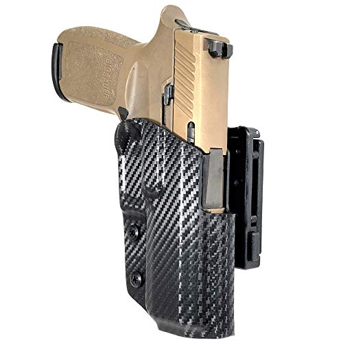 Black Scorpion Outdoor Gear OWB Kydex Pro IDPA Competition Holster fits Sig Sauer P320 M18 XCompact RXP Compact Nitro Compact XCarry (Carbon Fiber)