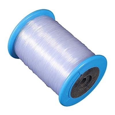 aaerp Transparent Fishing Line,Non-elastic Crystal Bracelet Line Thread Balloon Decorative Belt - 260 M/Roll/0.8 MM by aaerp