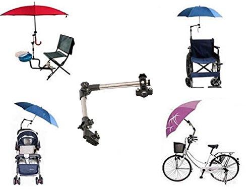 LL-Golf ® Parasol houder voor fiets/rolstoel/wandelaar/vissen/golf trolley voor ronde elementen tot 2,5 cm diameter