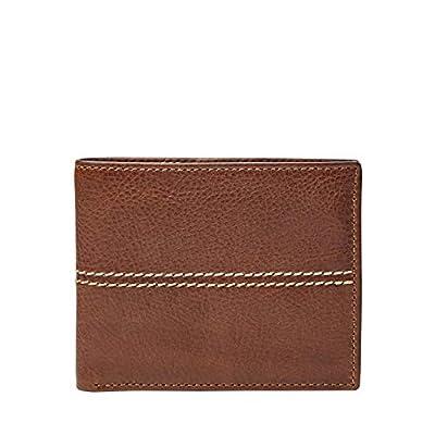 Fossil Men's RFID Blocking Bifold Wallet with Flip Id, Turk- Brown, One Size