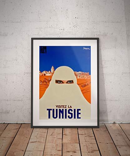 Todghrt Póster de Viaje Tunisie de Túnez con impresión de Túnez, póster de Viaje de Túnez