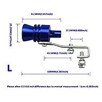 ターボホイッスル 排気管、ホイッスルマフラーにおいて、シミュレータ排気、排気管ノズルS/M/L/XLユニバーサルターボホイッスル (Color : Blue L)