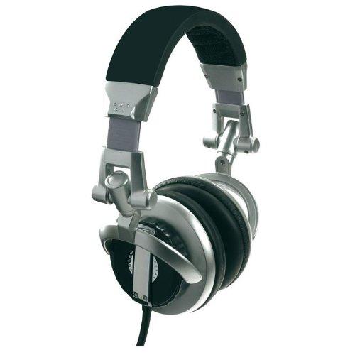 Skytec Soundtrack DJ-850 Cuffie DJ stereo headphones professionali (imbottitura in ecopelle, cavo a spirale, 110dB SPL, 32Ohm)