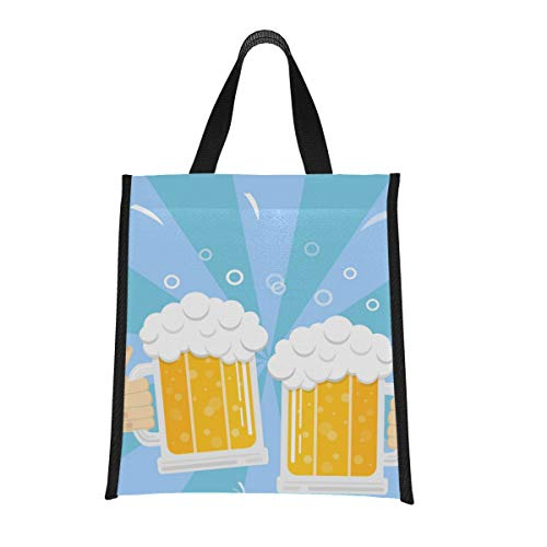 Cooler Gift Bag Beer Drink Agreed Deal Cheers Mom Lunchbox Picnic Cooler Bags Insulated Reusable, Foldable Keeps Food Hot/cold For Women,men,school,office