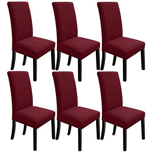 Senmubery Esszimmer Stuhl BezüGe Esszimmer Stuhl BezüGe Stuhl BezüGe Stuhl BezüGe für Esszimmer Set Von 6, Wein Rot