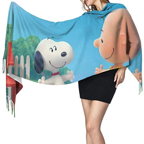 engdingxiansizhefuzhua Übergroße Snoopy Damen Quaste Schal Winter warme Mode Kaschmir elegante Decke für Frauen 7727in