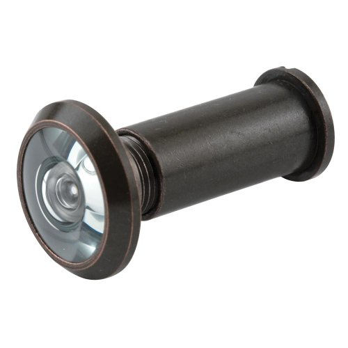 Prime-Line Products U 10313 Door Viewer, 9/16 in. Bore, 180-Degree View Angle, Classic Bronze, U.L. Listed