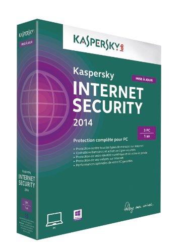Kaspersky internet security 2014 - Mise à jour (3 postes, 1 an)