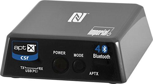Imperial BART 1 Bluetooth 4.0 Audio-Transceiver (Sender-Empfänger, Codec aptX 352 kBit, Optischer/3,5mm Klinken Ein und Ausgang) schwarz