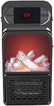 Monland Calentador EléCtrico de Llama con Toma de Corriente Calentador de Aire Enchufable de EU Radiador de Estufa de CalefaccióN de CeráMica PTC Ventilador de Pared PráCtico de Casa
