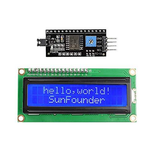 ICQUANZX Display LCD seriale IIC I2C TWI 1602 per Arduino Uno R3 Mega 2560 16x2