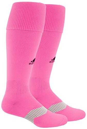 adidas Unisex Metro IV OTC Soccer Socks (1-Pair) Ultra Pop/ Black/ Clear Grey, Large