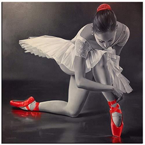 La Hermosa Bailarina de Ballet 3D DIY Diamante Pintura Icono Diamantes de imitación Mosaico imágenes de Cristales Bordado Kits de Punto de Cruz Sqaure 50x50cm
