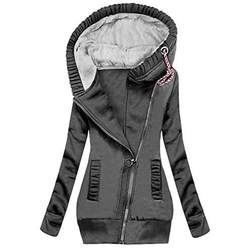 Pianshanzi Manteau d'hiver pour femme - Veste de pluie légère imperméable et respirante - Avec capuche - Veste fine - Grandes tailles - Pour le sport - Convient pour les adultes, G5 gris, XXL