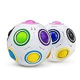 welltop Magic Rainbow Ball, 3D Ball Puzzle Speed Cube Juguetes educativos Rainbow Puzzle Ball Alivio del estrés para niños y Adultos (1 Paquete)
