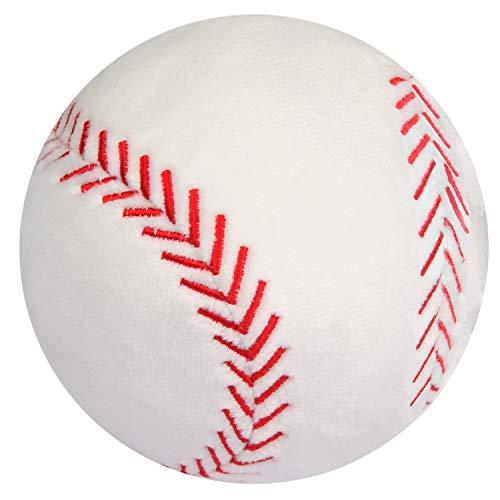 "CatchStar Plush Baseball Fluffy Stuffed Baseball Toy Durable Baseballs Plush Toy Soft Sports Ball Toy Gift for Kids Boy Baby Children Infant Toddler 4"""