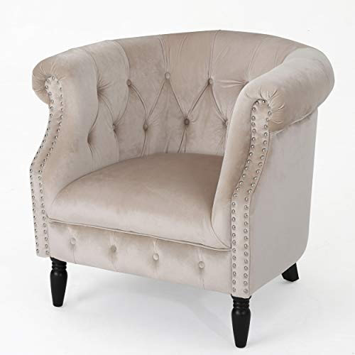 Christopher Knight Home Akira Velvet Club Chair, Champagne