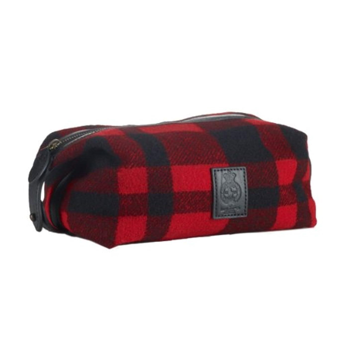 回転有名人エミュレートする(ポロ ラルフローレン) Polo Ralph Lauren 《Buffalo Plaid Shaving Kit:バッファローチェック柄 ポーチバッグ<Red Royal>》 [並行輸入品]