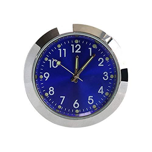 MOPOIN Auto Armaturenbrett Uhr, Mini Auto Uhr Runde Quarzuhr Uhr mit Leuchtenden Zeiger für Auto Innendekoration Kleine Wanduhr Home Decor
