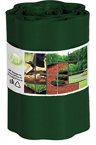 Rasenkante 9m x 25 cm dunkelgrün Beeteinfassung Beetumrandung Rasenbegrenzung Raseneinfassung Mähkante