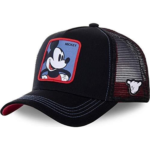 Gorra de béisbol Snapback de Anime de Dibujos Animados Hombres y Mujeres, Gorra de Camionero de Malla de papá Hip Hop-Mickey Navy